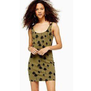 TOPSHOP Palm Print Tunic Tank Dress